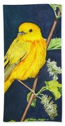 Yelllow Warbler Beach Towel