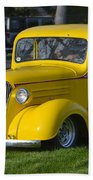 Yellow 30's Chevy Pickup Beach Towel