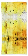 Yellow Abstract Art - Good Vibrations - By Sharon Cummings Beach Towel