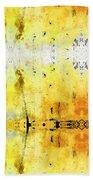 Yellow Abstract Art - Good Vibrations - By Sharon Cummings Beach Sheet