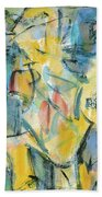 Yellow Abstraction Beach Towel