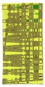 Yellow And Brown Lines Beach Towel