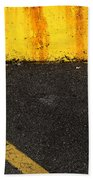 Yellow And Grey Wc  Beach Towel