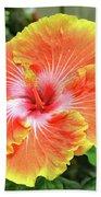 Yellow And Orange Hibiscus 2 Beach Towel