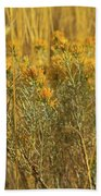 Yellow Autumn Blooming Beach Towel
