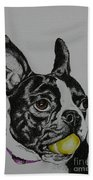Yellow Ball  Beach Towel