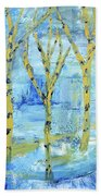 Yellow Birches Beach Towel