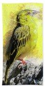 Yellow Bird Beach Towel