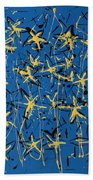 Yellow Blue Beach Towel