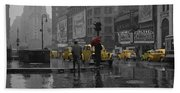 Yellow Cabs New York Beach Towel
