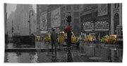 Yellow Cabs New York Beach Towel