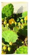 Yellow Cactus Blossoms 594 Beach Towel