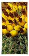 Yellow Cactus Beach Towel
