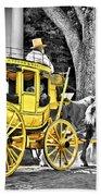 Yellow Carriage Beach Towel