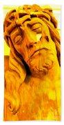 Yellow Christ #1 Beach Towel