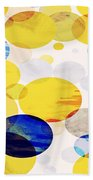 Yellow Circles Beach Towel