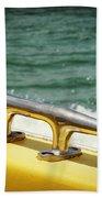 Yellow Cleat Beach Towel