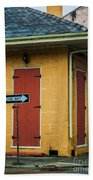 Yellow Cottage French Quarter- Nola Beach Towel