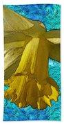 Yellow Daffodil 3 Beach Towel