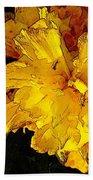 Yellow Daffodils 4 Beach Sheet