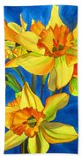 Yellow Daffodils Beach Sheet
