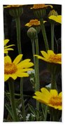 Yellow Daisies Beach Towel