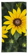 Yellow Daisy Beach Towel