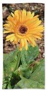Yellow Daisy Beach Towel