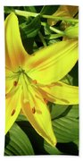 Yellow Day Lilies Beach Towel