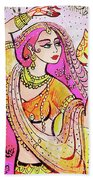 Yellow Devi Beach Towel