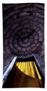 Yellow Doorway Abstract Beach Towel