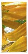 Yellow Droplet Petals Beach Towel