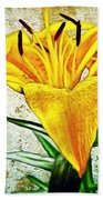 Yellow Easter Lily Beach Towel