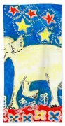 Yellow Elephant Facing Left Beach Towel by Sushila Burgess