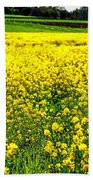 Yellow Field Beach Towel