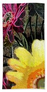 Yellow Floral Beach Towel