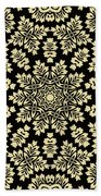 Yellow Floral Ornament Design Beach Towel