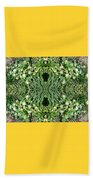 Yellow Flower Mandala 1 Beach Towel