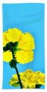 Yellow Flower Beach Towel