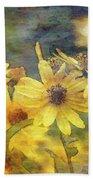 Yellow Flower View 4851 Idp_2 Beach Towel