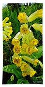 Yellow Flowers 2 Beach Sheet