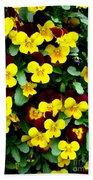 Yellow Flowers Beach Towel