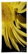 Yellow Gerbera Daisy By Kaye Menner Beach Towel