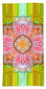 Yellow Green Medallion Beach Towel