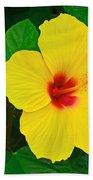 Yellow Hibiscus 3388 Beach Towel