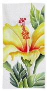 Yellow Hibiscus Beach Towel
