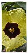 Yellow Hibiscus F134 Beach Towel