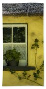 Yellow House County Clare Ireland Beach Towel