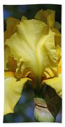 Yellow Iris Is For Passion Beach Towel