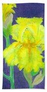 Yellow Iris Beach Towel